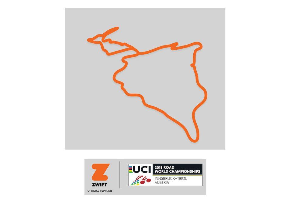 Il circuito mondiale 2018 di Innsbruck su Zwift