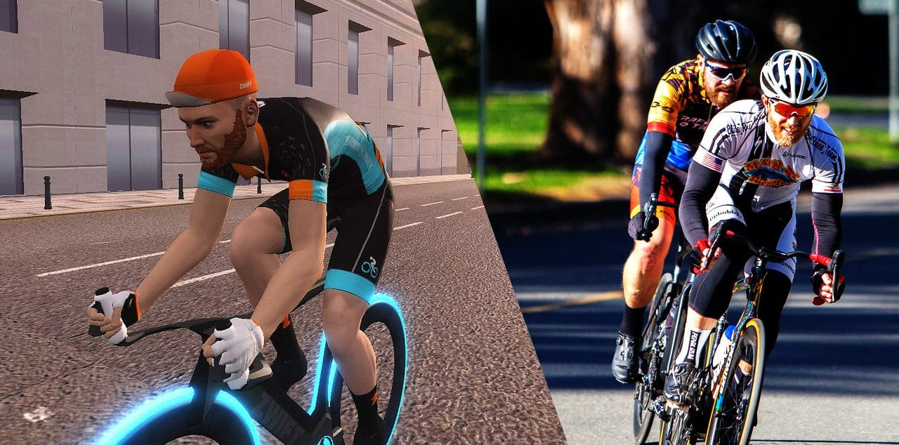 Comparazione gara criterium Zwift vs Outdoor