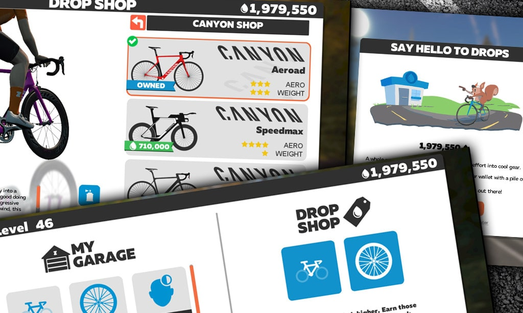 Cos'è il Drop Shop di Zwift